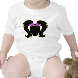 Coletas púrpuras traje de bebé