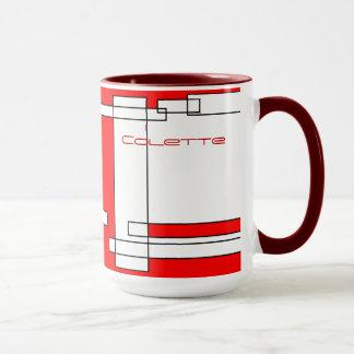 Colette Red White Coffee Mug