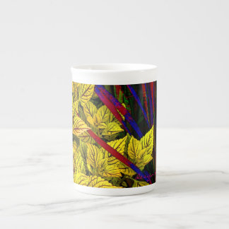 Coleus and Grass Tea Cup