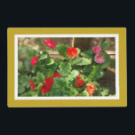 """Coleus/Gerbera Daisy Placemat<br><div class=""""desc"""">Placemat with photo of velvety red coleus on one side and photo of red and pink gerbera daisies on the other.</div>"""