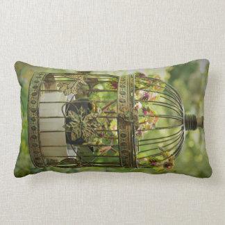 Coleus in Vintage Birdcage Lumbar Pillow