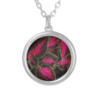 coleus silver plated necklace