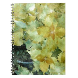 Coleus Yellow Green Spiral Note Book