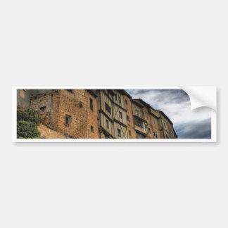 Colgadas de los Casas en Frias, España Etiqueta De Parachoque