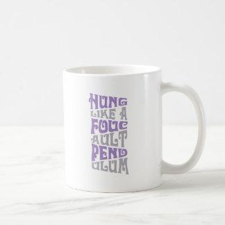 Colgado como una taza de café del péndulo de Fouca
