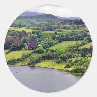 Colgagh Lough Lakes Ireland 3 Round Stickers