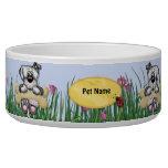 Colgante alrededor de perros - nombre del personal tazones para perro