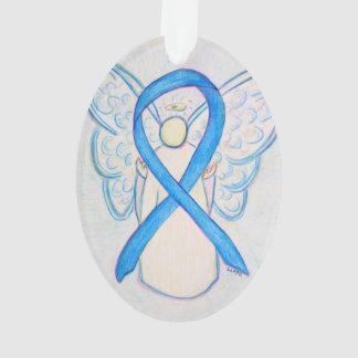 Colgante azul claro del ornamento del ángel de la