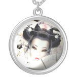 Colgante blanco del geisha de la cereza