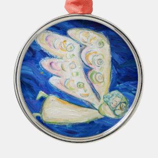 Colgante blanco del ornamento del arte del ángel d ornamentos de navidad