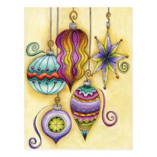 Colgante colorido hermoso de los ornamentos del na tarjeta postal