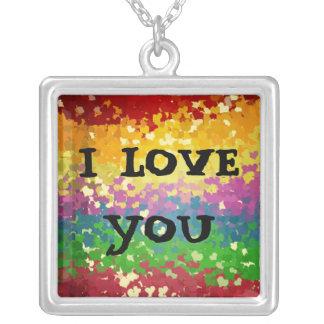colgante colorines ines, I LOVE YOU Necklace