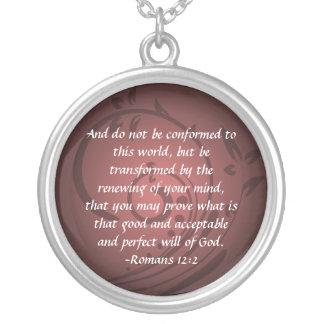 Colgante cristiano del verso de la biblia del 12:2