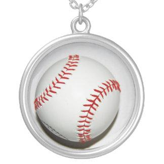 Colgante de cadena del collar del b-ball del béisb