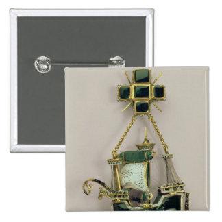 Colgante de Caravel, 1580s-90s Pin Cuadrada 5 Cm