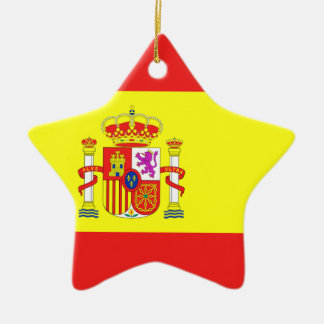 colgante de españa adorno navideño de cerámica en forma de estrella