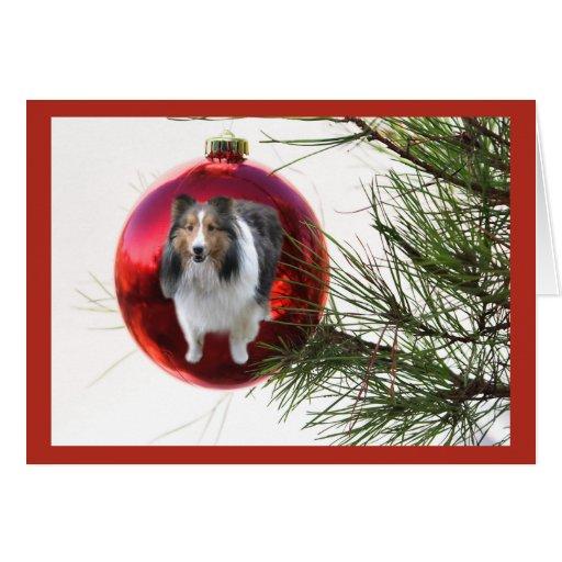 Colgante de la bola de la tarjeta de Navidad de Sh