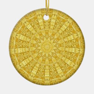 colgante de la Goldlace-mirada Adorno Redondo De Cerámica