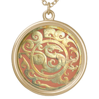 Colgante de oro del artefacto chino de Dragón-Phoe