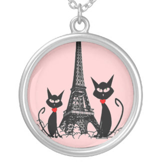 Colgante de Sterling de la torre Eiffel y de los g