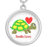 Colgante del amor de la tortuga