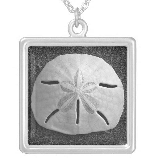 Colgante del collar de la plata de la playa del Se