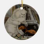 Colgante del ornamento de la pesca del gato persa ornamento para arbol de navidad
