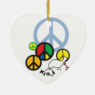 colgante del signo de la paz adorno