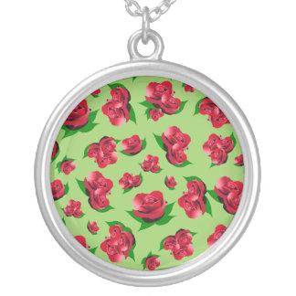 Colgante del verde del modelo del rosa rojo