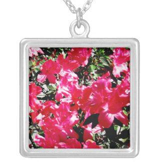 Colgante floral rosado