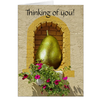 Colgante hacia fuera tarjeta de felicitación