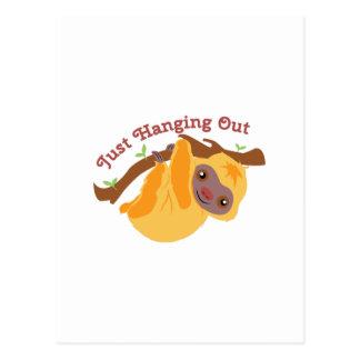 Colgante hacia fuera tarjetas postales