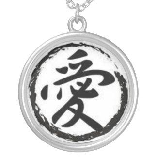 Colgante japonés del Ai del kanji del amor
