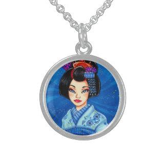 Colgante japonés del arte del geisha de la noche