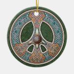 Colgante/ornamento del signo de la paz de Knotwork Ornamento Para Reyes Magos