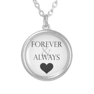 Colgante para siempre y siempre verdadero del amor