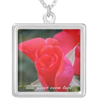 Colgante personalizado del rosa rojo