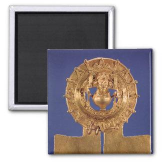 Colgante que representa un disco del sol, Zaachila Imán Cuadrado