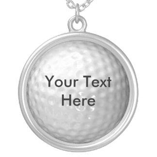 Colgante y cadena del mensaje de la pelota de golf