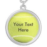 Colgante y cadena personalizados del tenis