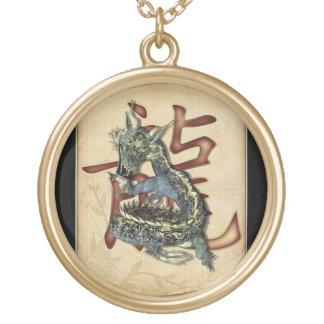 Colgantes azules chinos del dragón
