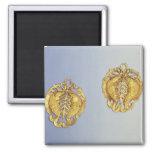 Colgantes chinos, oro de 17 quilates plateado imán de frigorífico