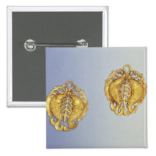 Colgantes chinos, oro de 17 quilates plateado pin