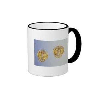 Colgantes chinos, oro de 17 quilates plateado taza de café