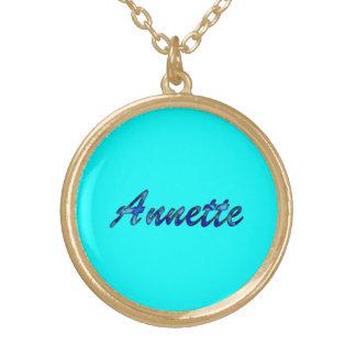 Colgantes y joyería del collar de Annette