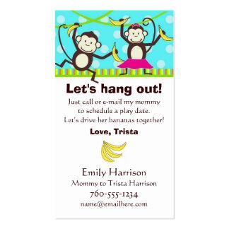 Colguemos hacia fuera, las tarjetas de fecha del tarjetas de visita