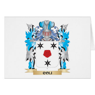 Coli Coat of Arms - Family Crest Stationery Note Card