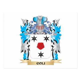 Coli Coat of Arms - Family Crest Postcard