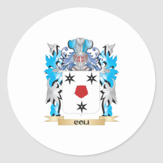 Coli Coat of Arms - Family Crest Classic Round Sticker