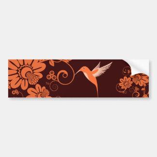 Colibri and Flowers Bumper Sticker